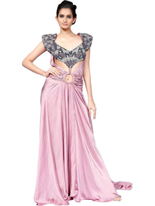 Purple Butterfly Gown By Anjana Anamika