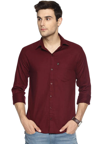 100% Cotton Plain Solid Casual Full Sleeves Shirt
