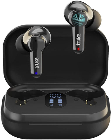 Wireless Earbuds with Environmental Noise Cancellation and Quad MEMS Mic for Clear Call Dedicated Low Latency Gaming Mode