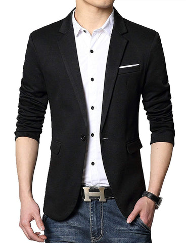 Slim Fit One Button Stylish Blazer
