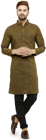 Full Sleeve Knee Length Cotton Regular Kurta