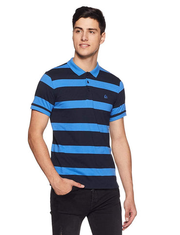 100% Cotton Striped Regular Fit Polo