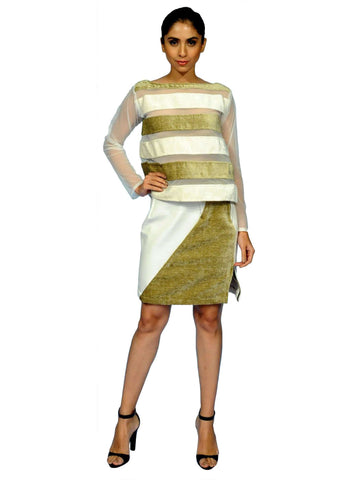 Rust Green Top And Skirt By Anvita Thakkar