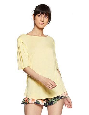 Short Sleeve Round Neck Regular Fit Top