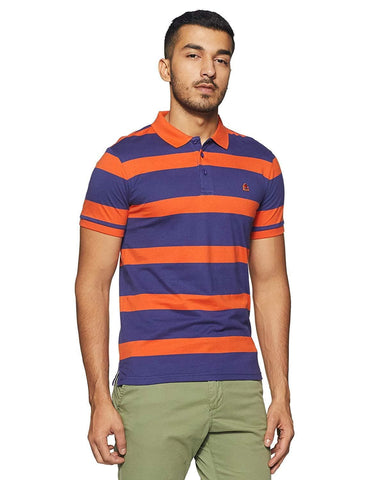 100% Cotton Short Sleeve Striped Regular Fit Polo