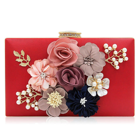 Women Flower Clutches Evening Handbags Wedding Clutch Purse