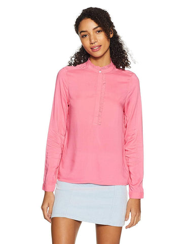 100% Viscose Regular Fit Long Sleeve Top