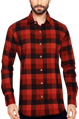 Classic Collar Checkered Regular Fit Shirt