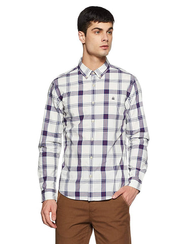 Checkered Slim Fit Casual Shirt