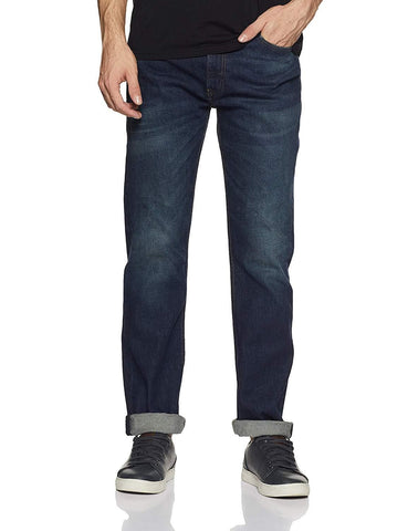 Slim Straight Fit Zip Fly Jeans