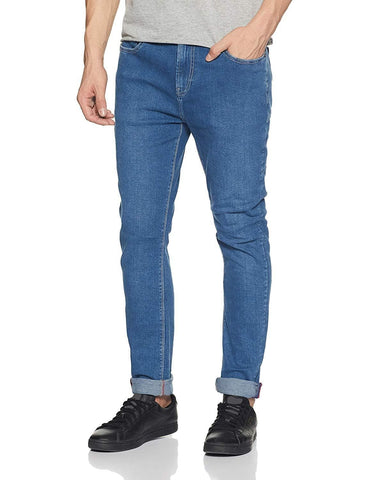 Mid Wash Blue Carrot Fit Jeans