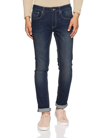 Pepe Tinted Blue Zip Fly Slim Fit Jeans