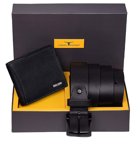 Wallet & Black Casual Belt Combo Gift Set for Men