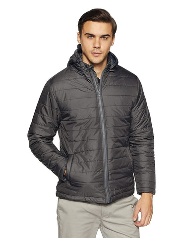 Quilted Full Sleeve Hooded Winter Jacket