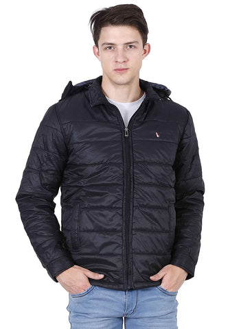 Light Weight Quilted Removable Hood Slim Fit Jacket