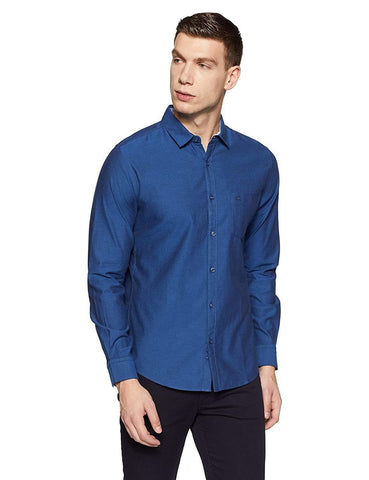 Slim Fit 100% Cotton Casual Full Sleeve Shirt