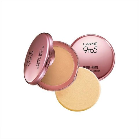 Silky Golden Lakme 9 to 5 Primer Plus Matte Powder Foundation Compact
