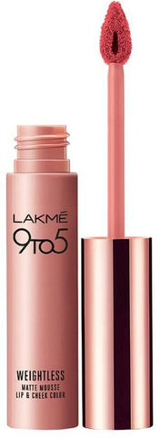 Candy Floss Lakme 9 to 5 Weightless Matte Mousse Lip and Cheek Color