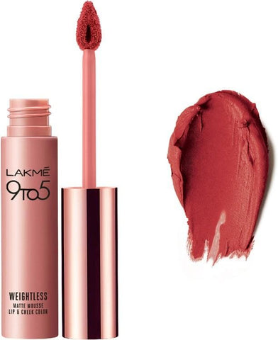 Crimson Silk Lakme 9 to 5 Weightless Mousse Lip & Cheek Color