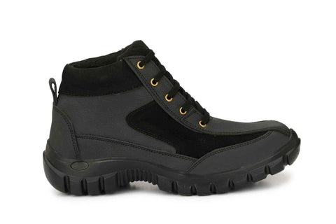 Leather Steel Toe Safety Shoes Ankle Boots