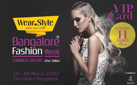 Bangalore Fashion Week VIP Card