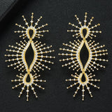 Bohemia Fireworks Charm Zircon Earrings