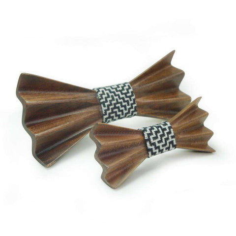 Wooden Slim Butterfly 3D Personality Bow Tie