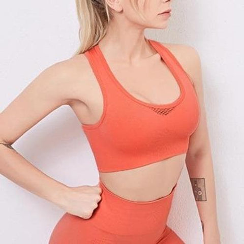 Sports Yoga Gym Fitness Push Up Bra Top