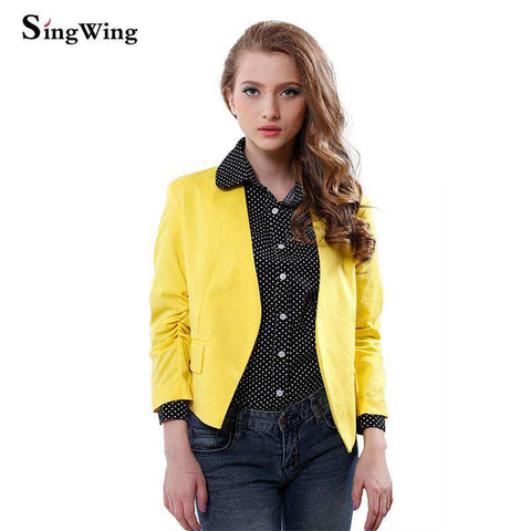 Three Quarter Sleeve Slim Type Coat