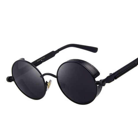 Steampunk Design Round UV400 Sunglasses