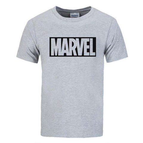 Top quality cotton short sleeves Casual men Marvel t shirts