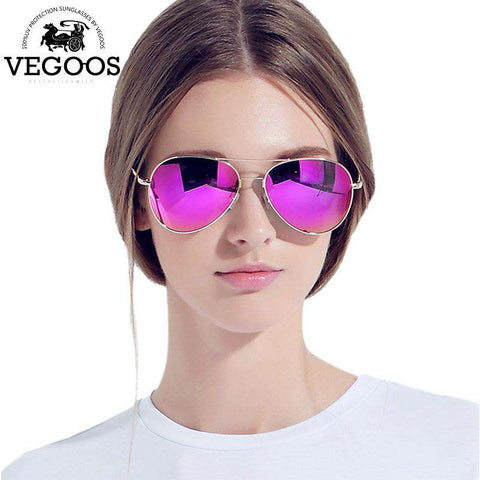 Luxury Designer Real Metal Frame Retro Pilot Sunglasses - Wear.Style
