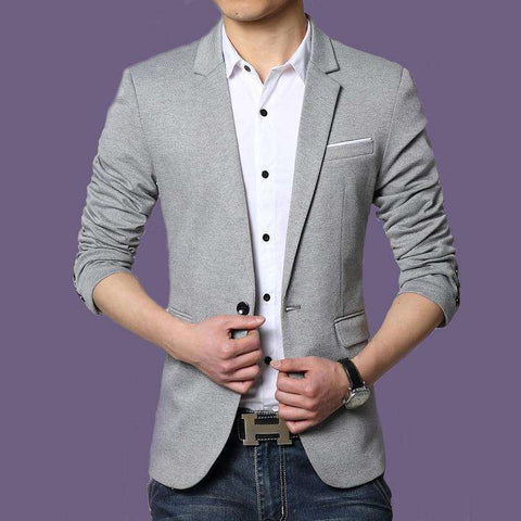 Single Breasted One Button Blazer