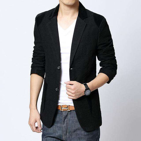 Casual khaki Slim Fit Blazer