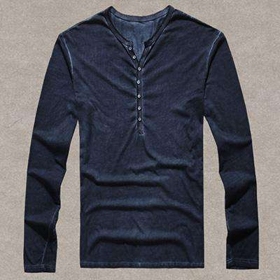 Cotton Vintage Long Sleeve High Quality TShirt