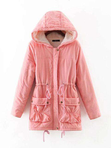 Medium-Long Parka Hooded Jacket