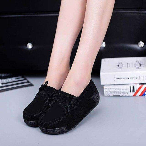 Suede Moccasins Fringe Slip On Tassel Flat Platform Loafers Shoes
