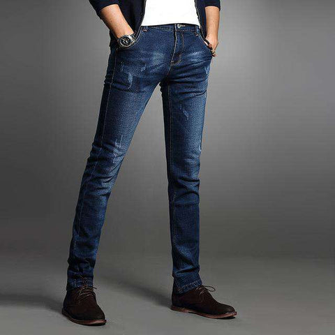 Comfortable Stretch Blue Slim Fit Jeans
