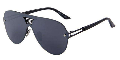Big Frame Integrated Eyewear UV400 Mirror Sunglasses