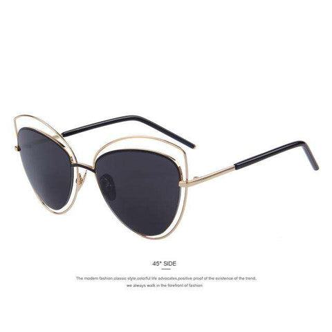 Cat Eye Big Frame Designer Shades UV400 Sunglasses