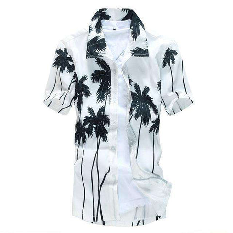 Hawaiian Printed Beach Short Sleeve Shirt for Men - Wear.Style