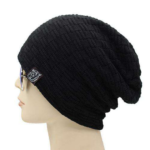 Knitted Warm Thicken Fur Skull Caps