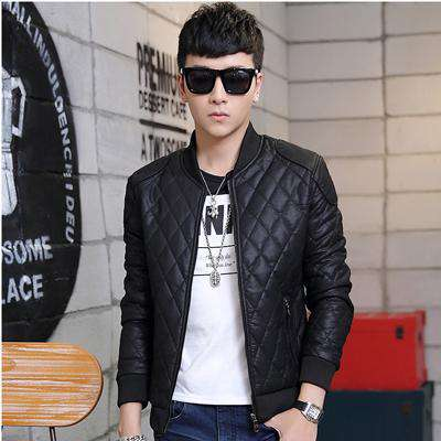 PU Leather Jacket Slim Fit - Wear.Style