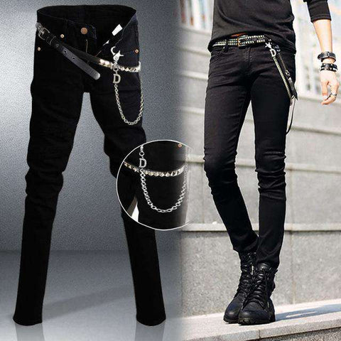 Designer Black Slim Fit Jeans - Wear.Style