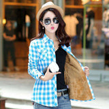 Plaid Style Long Sleeve Warm Shirt - Wear.Style