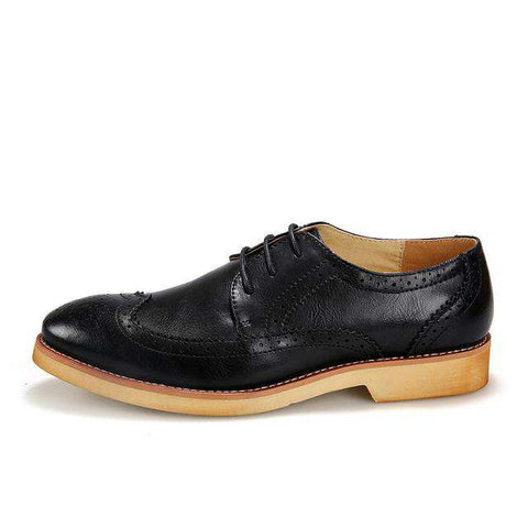 Genuine Leather Lace up Casual Oxfords Flats - Wear.Style