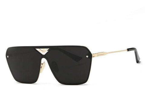 Conjoined Spectacle Lens Rimless Alloy Frame Summer Style Sun Glasses