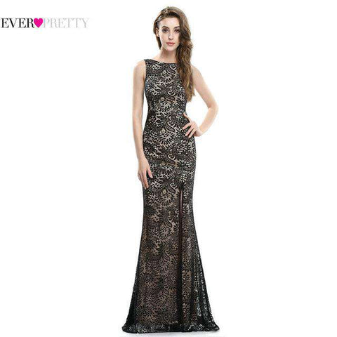 Mermaid  Long Sexy Sleeveless Split Evening Gown
