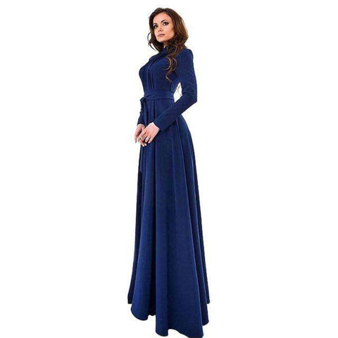 Elegant Long Sleeve Vintage Dress