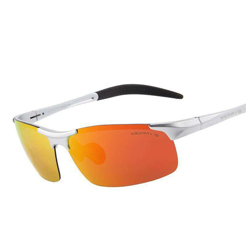 Polarised Aviation Aluminium Magnesium Rectangle Rimless Shades Sunglasses